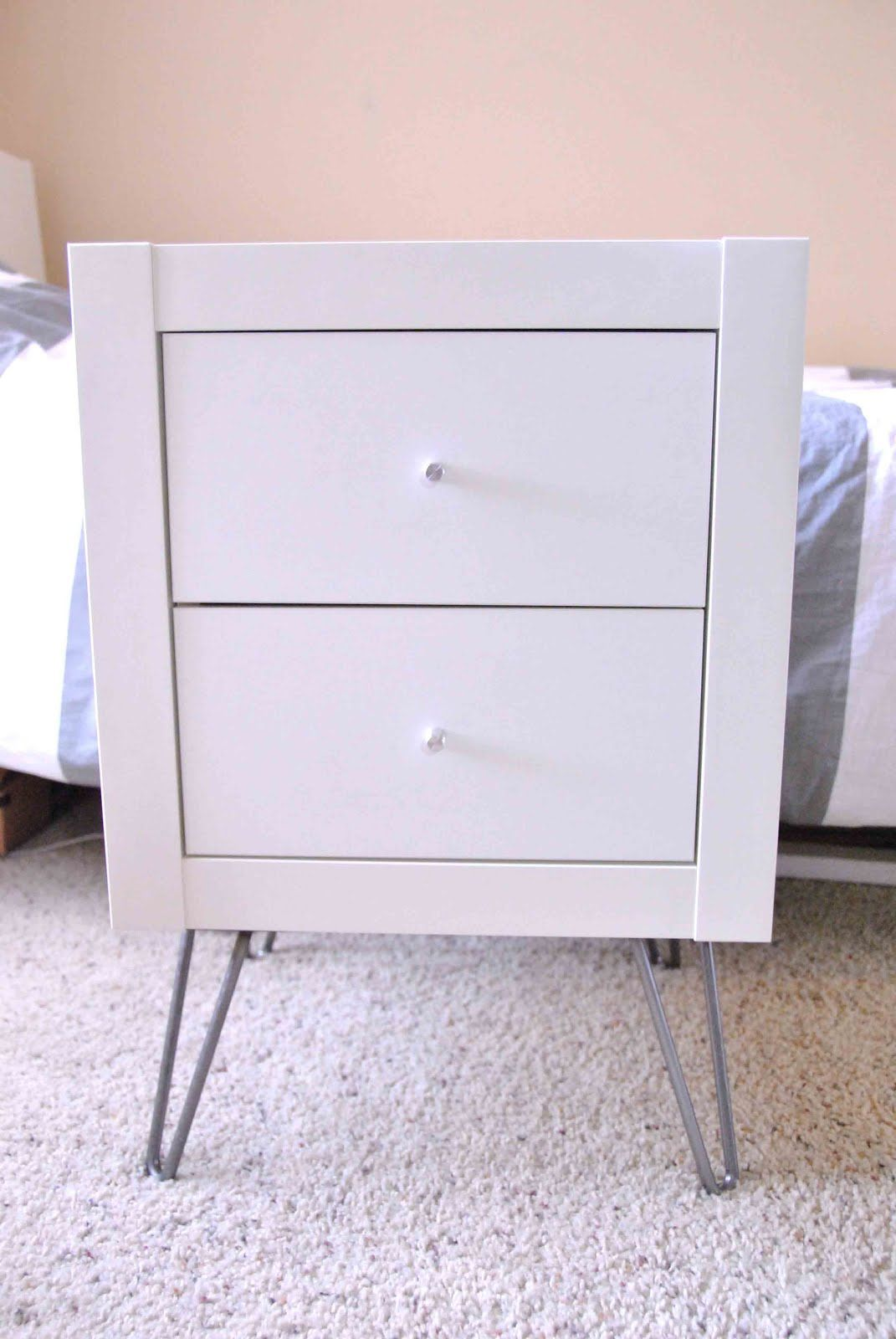 Expedit Wall Shelf Into Nightstand Ikea Diy Nachttisch Design