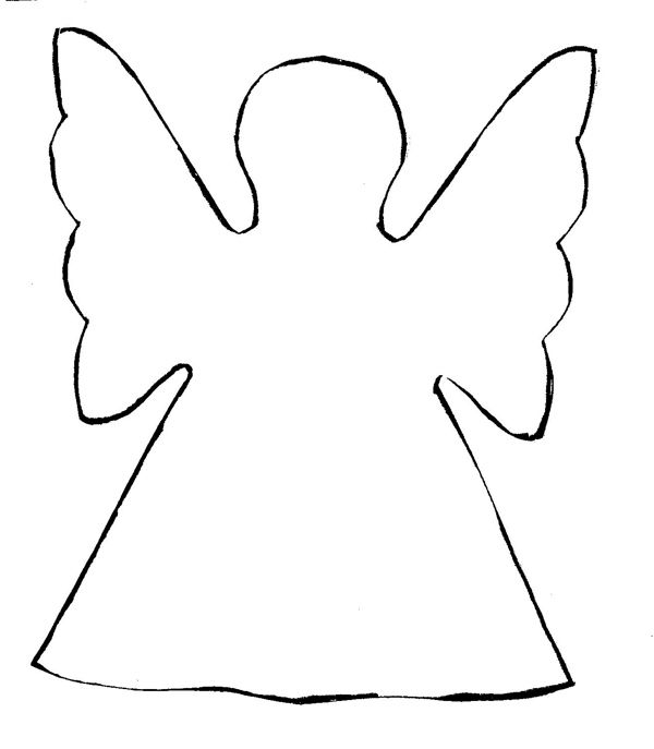 Christmas Tree Angel Template Christmas Templates