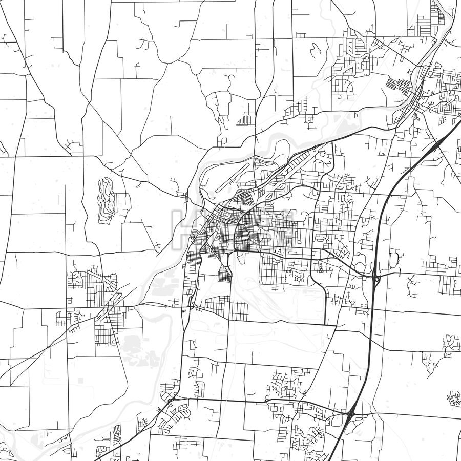 Middletown Ohio Area Map Light Ui ux