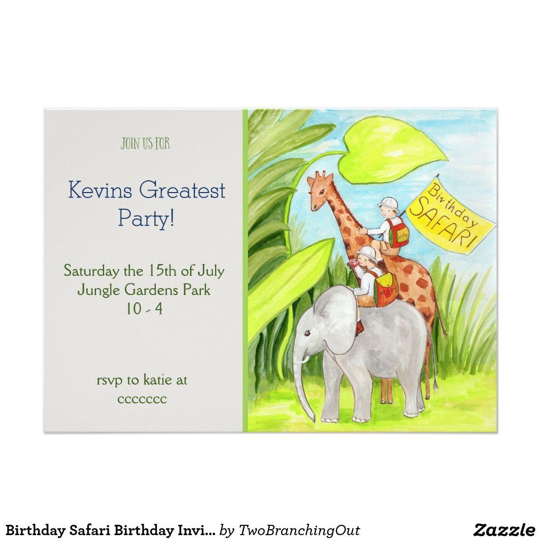 Birthday Safari Birthday Invite