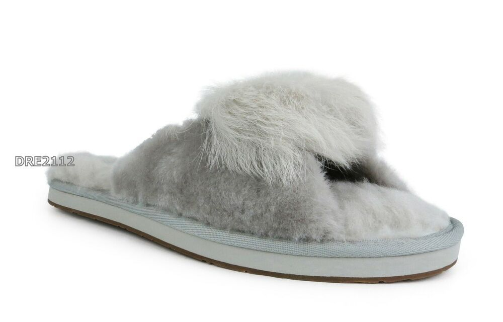 9bb26188034 eBay Advertisement) UGG Mirabelle Willow Suede Fur Slippers Womens ...