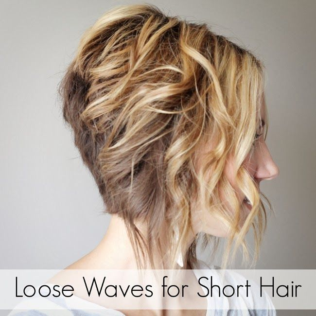 Loose Curls For Short Hair Tutorial How To Curl Short Hair Short Hair Waves Short Hair Tutorial