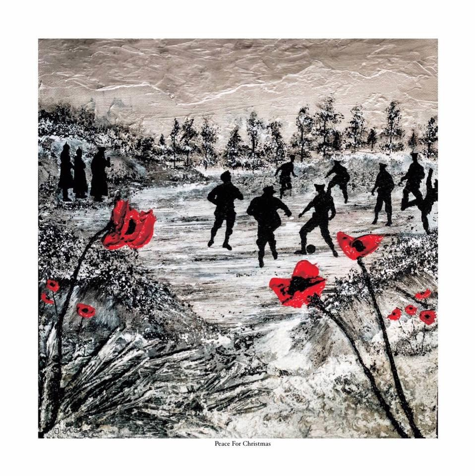 Peace For Christmas from the War Poppy Collection 1914-1918 by Jacqueline Hurley. Professional print No.2 in remembrance of Our Heroes by PortOutStarboardHome on Etsy https://www.etsy.com/listing/266369880/peace-for-christmas-from-the-war-poppy