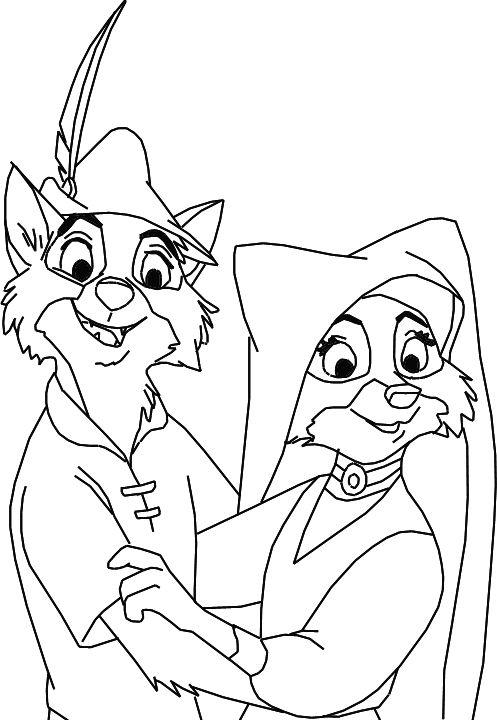 Robin Hood And Maid Marian Disney Coloring Pages Horse Coloring Pages Coloring Pages