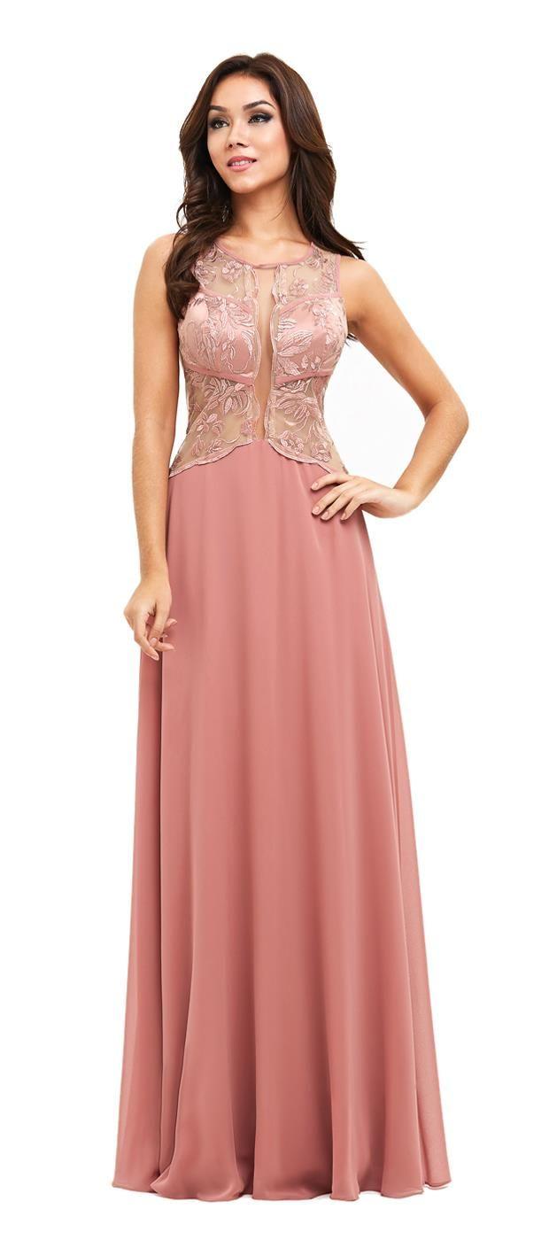 Vestido Longo Tule Bordado Vick | Dream dress, Moda and Fashion