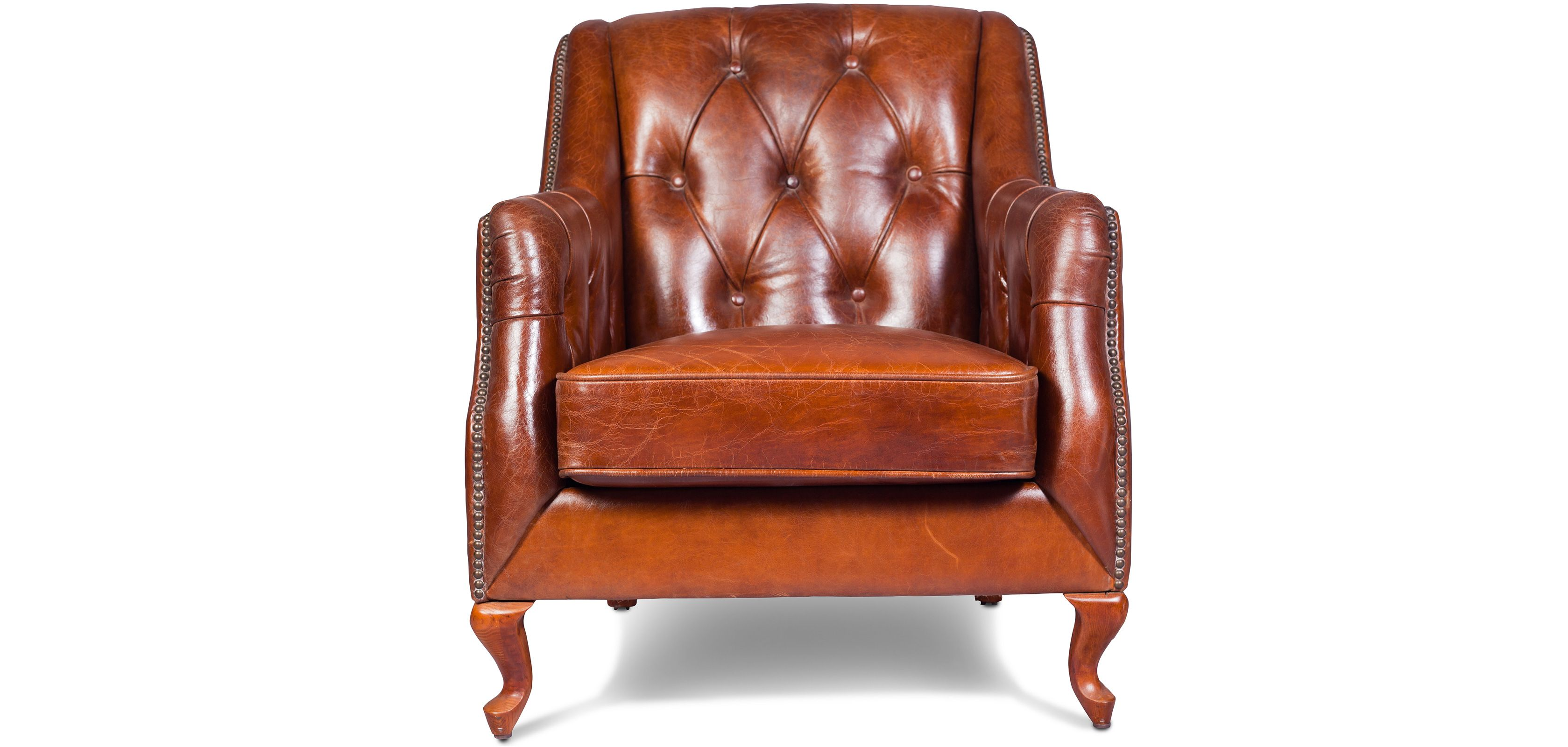 Fauteuil Bergere Capitonne Cuir Classique Accent Chairs Chair Chesterfield Chair