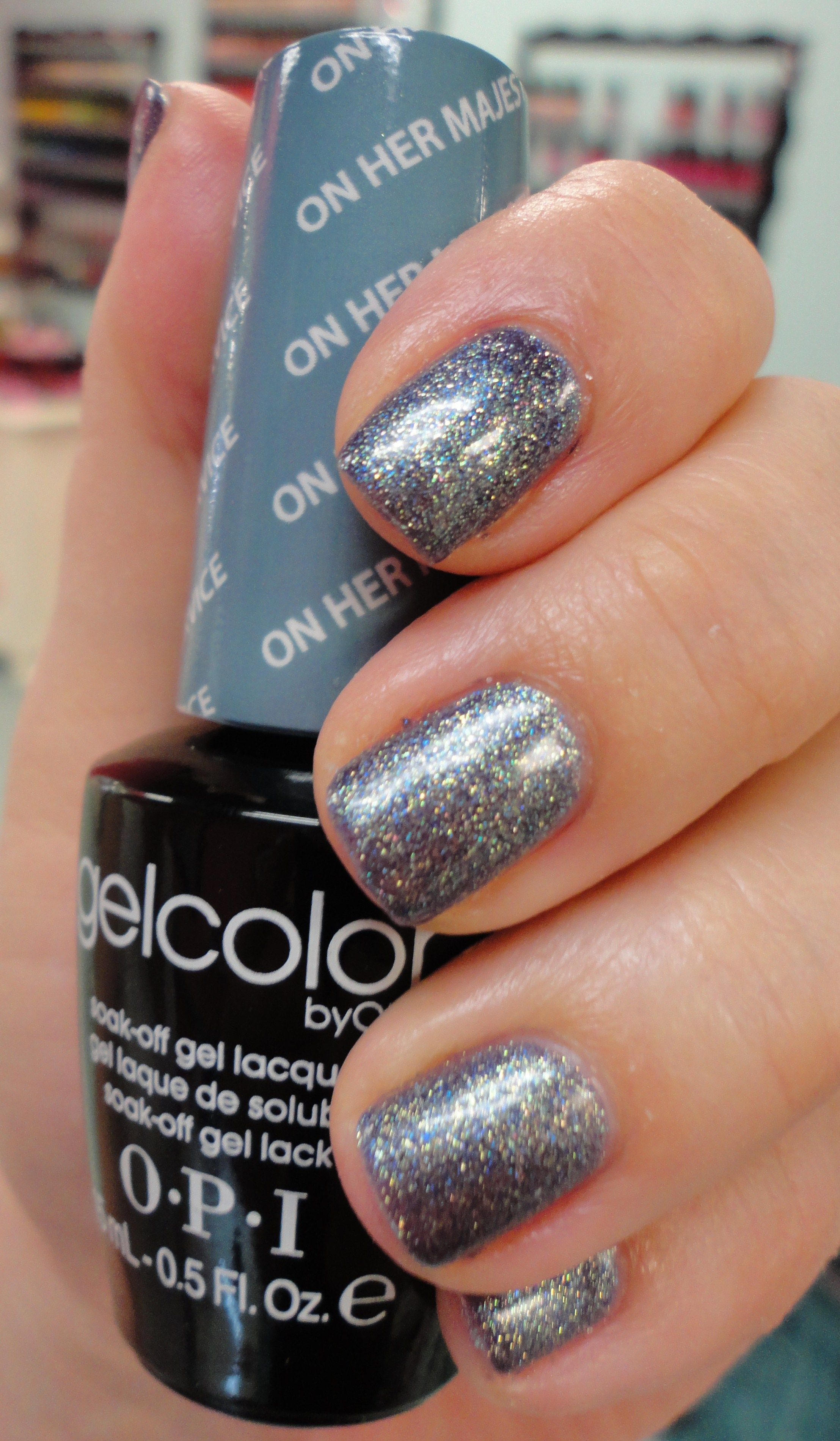 this beautiful silver glitter polish is one of opi's new gel