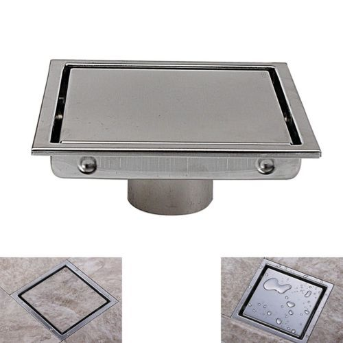 Square Shower Floor Drain With Tile Insert Grate Made Of Sus304