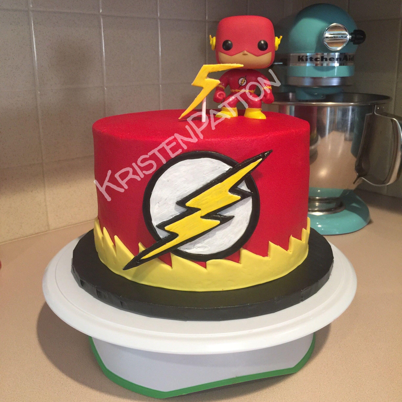 Dc Comics The Flashbirthday Cake W Funko Pop Figurine