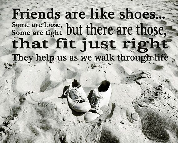Awesome Friendship Photograph Quote Shoes Beach Black And By RonyaGalka, $10.00
