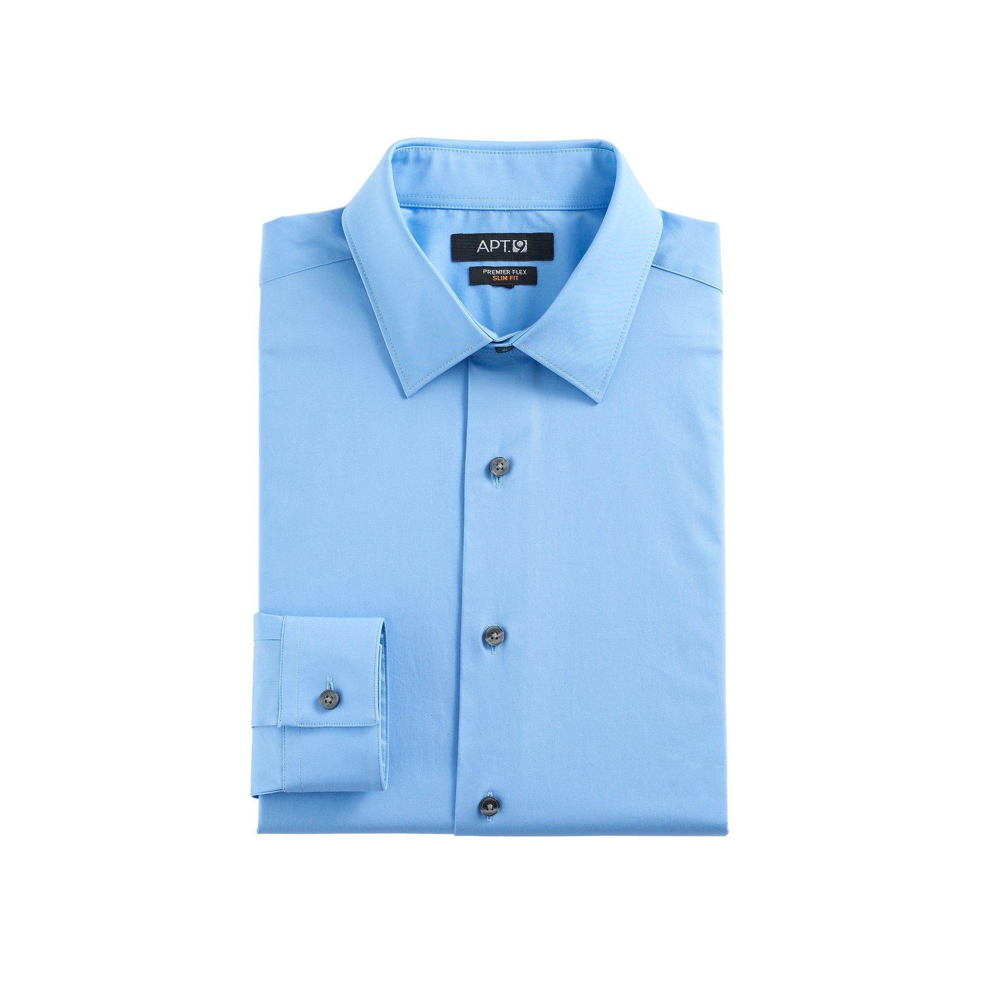 Green dress shirt mens Menus Apt SlimFit Premier Flex Collar Stretch Dress Shirt
