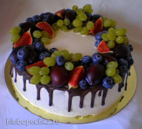 Как украсить торт фруктами своими руками фото | Торт ...