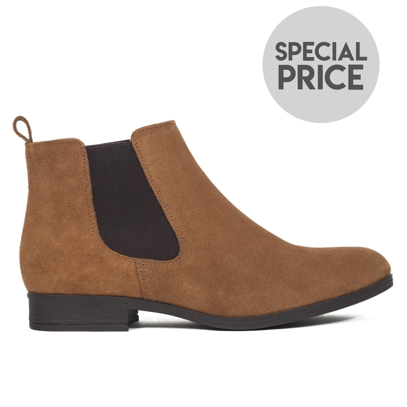 mitad de descuento bd9ad 019e8 CHELSEA - Botines planos mujer de piel CUERO in 2019 | Shoes ...