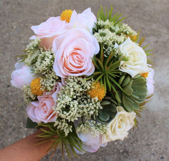 White apricot and green color bouquet used silk flower rose white apricot and green color bouquet used silk flower rose lace mightylinksfo