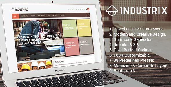 Industrix - Joomla Responsive Business Template