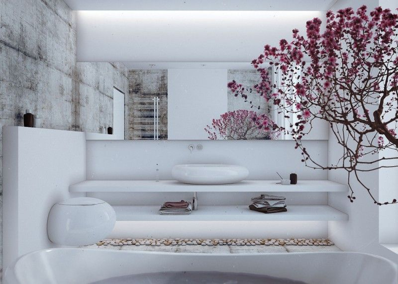Loft Style Country House by Angelina Alexeeva | Raum, Badezimmer und ...