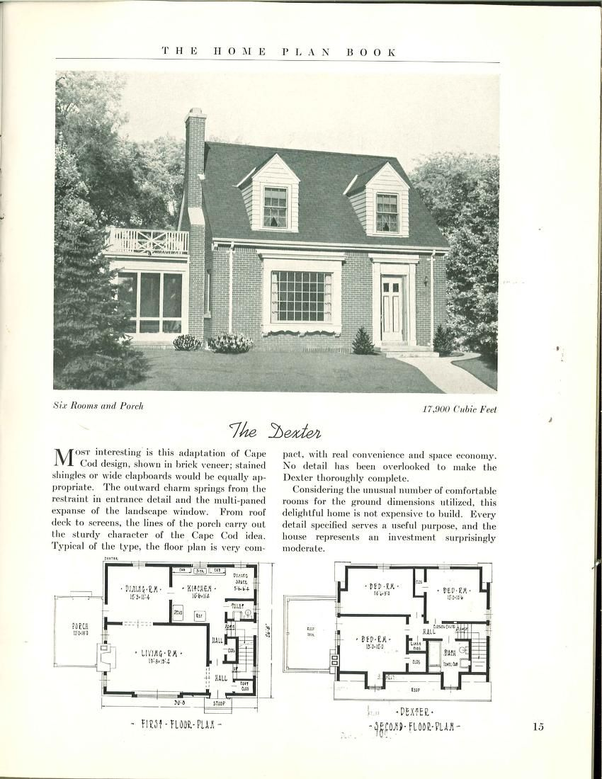 The Home Plan Book 1939 House Plans In 2019 House