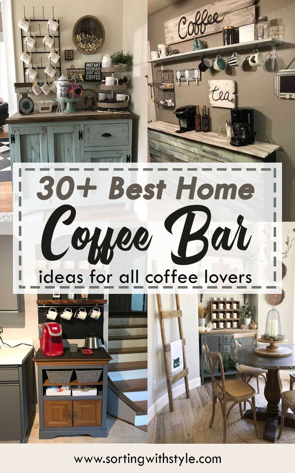 9+ Best Home Coffee Bar Ideas for All Coffee Lovers ...