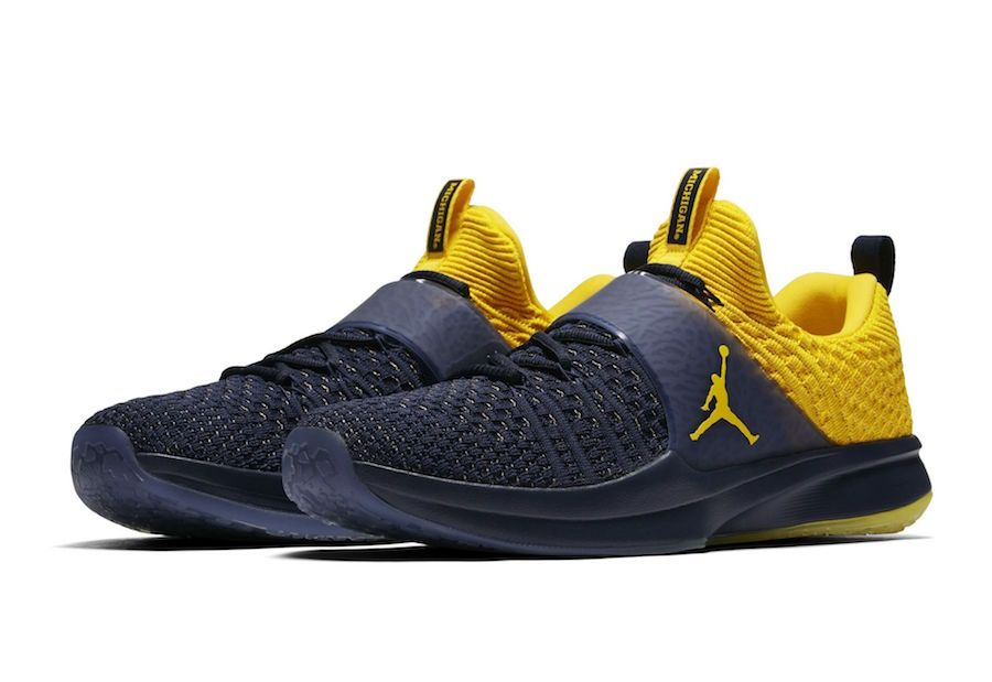Jordan Trainer 2 Flyknit Michigan Jordan Brand will be discharging a couple  of Jordan Trainer 2 Flyknit shading choices which