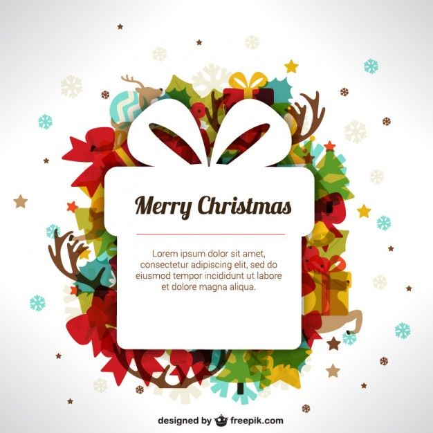 Modelo do Natal com caixa de presente Christmas templates - christmas invitation template