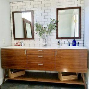 60 Double Sink Vanity Master Bathroom Design Modern Bathroom Vanity Small Bathroom Makeover