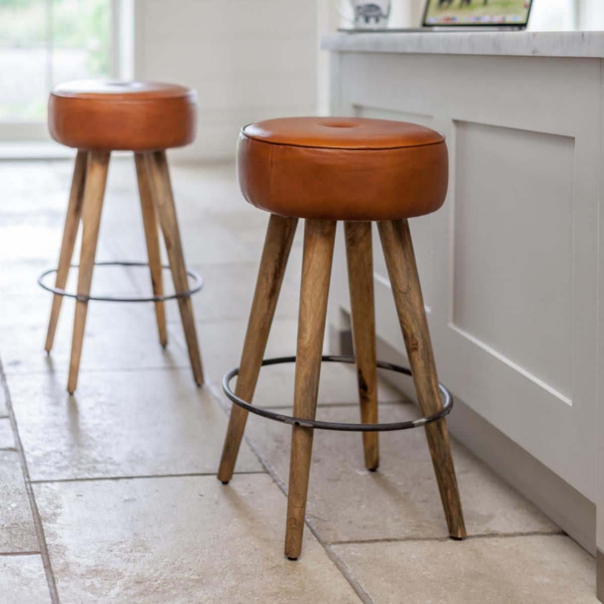 Leather Round Bar Stool Bar Stools Leather Bar Stools Round Bar