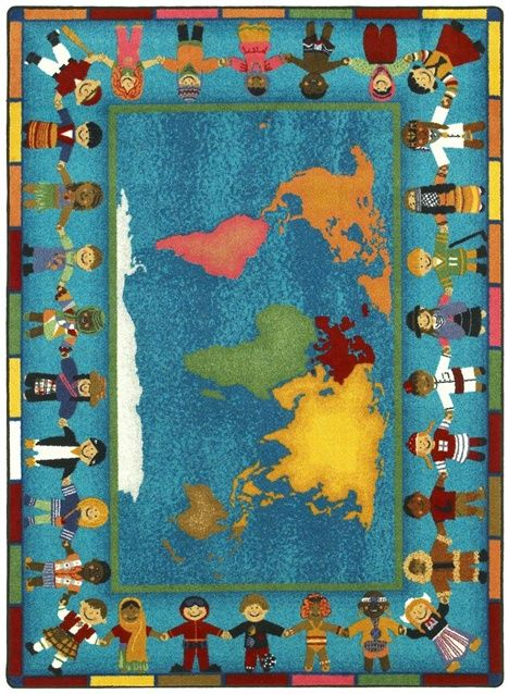 Hands Around The World Kids Rug Joy Carpets Rug World Kids