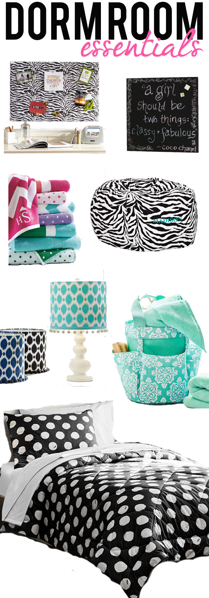 Dorm Room Essentials At Pottery Barn    Great For Teen Girl Room Too Part 22