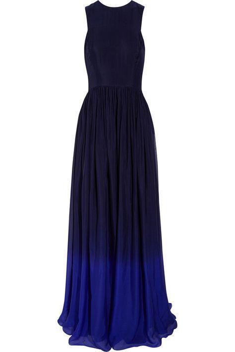 Matthew Williamson ombre blue bridesmaid dress