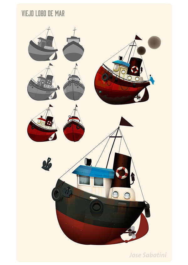 Pin By Roberto Luna On Gamedesign Boat Illustration Character Design Animation Boat Cartoon