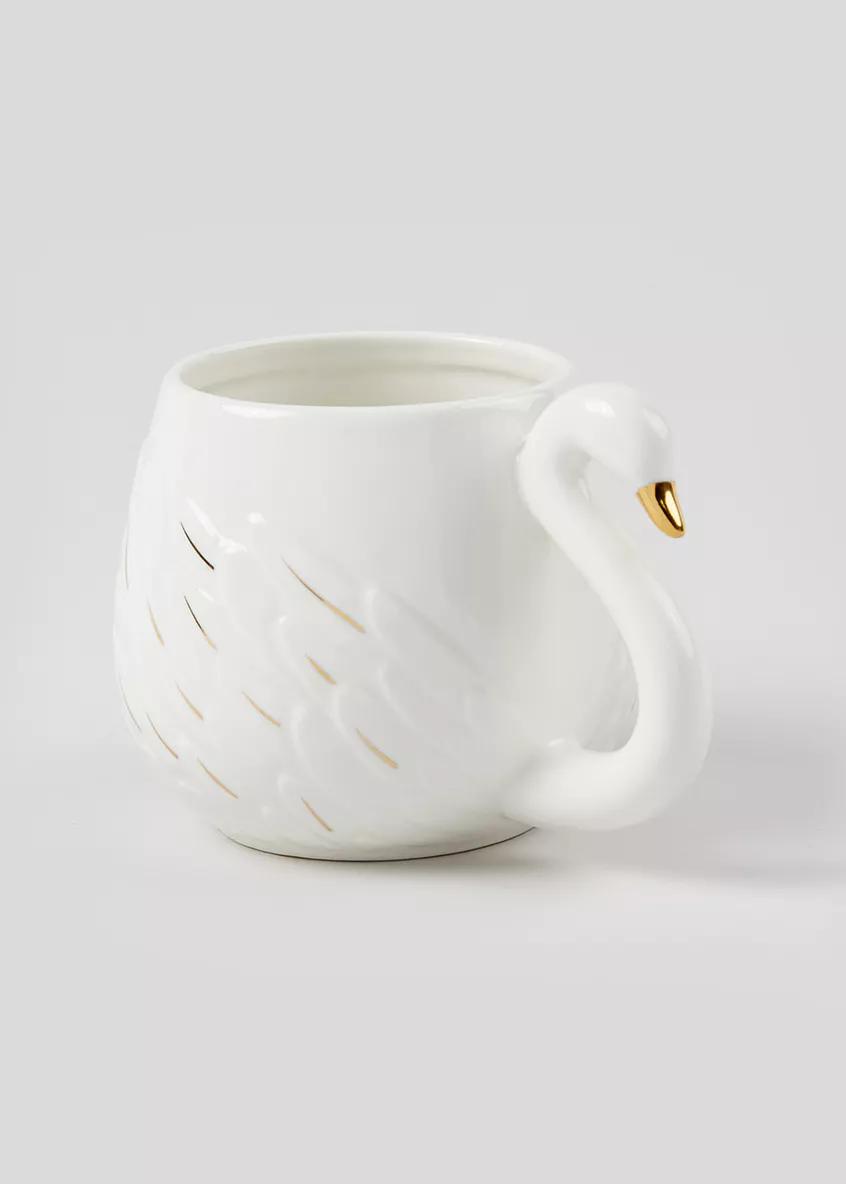 Swan Christmas Mug 12cm X 9cm White In 2020 Christmas Mugs Tea Cups Kids Dining