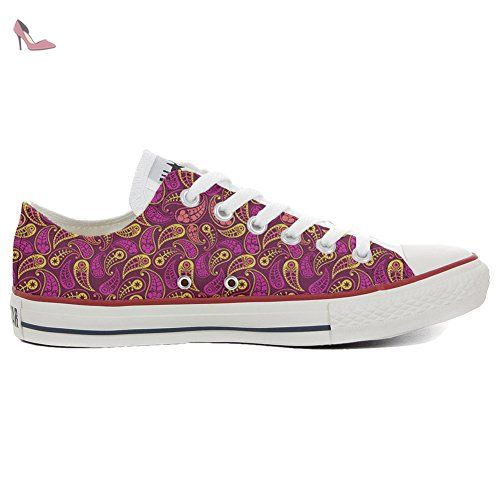 Converse Custom Slim personalisierte Schuhe (Handwerk Produkt) Decor Paisley  35 EU