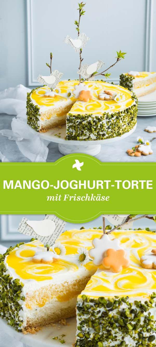 Wow Was Fur Ein Hingucker Mango Joghurt Torte Mit Dem Thermomix Einfach Selber Machen Toll Zu Ostern Joghurttorte Kuchen Und Torten Rezepte Joghurt Kuchen