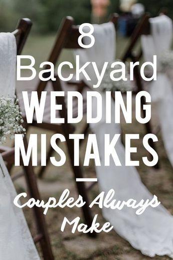 10 Mistakes Brides Make When Planning A Backyard Wedding