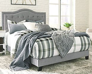 Best Jerary Queen Upholstered Bed Upholstered Beds King 400 x 300