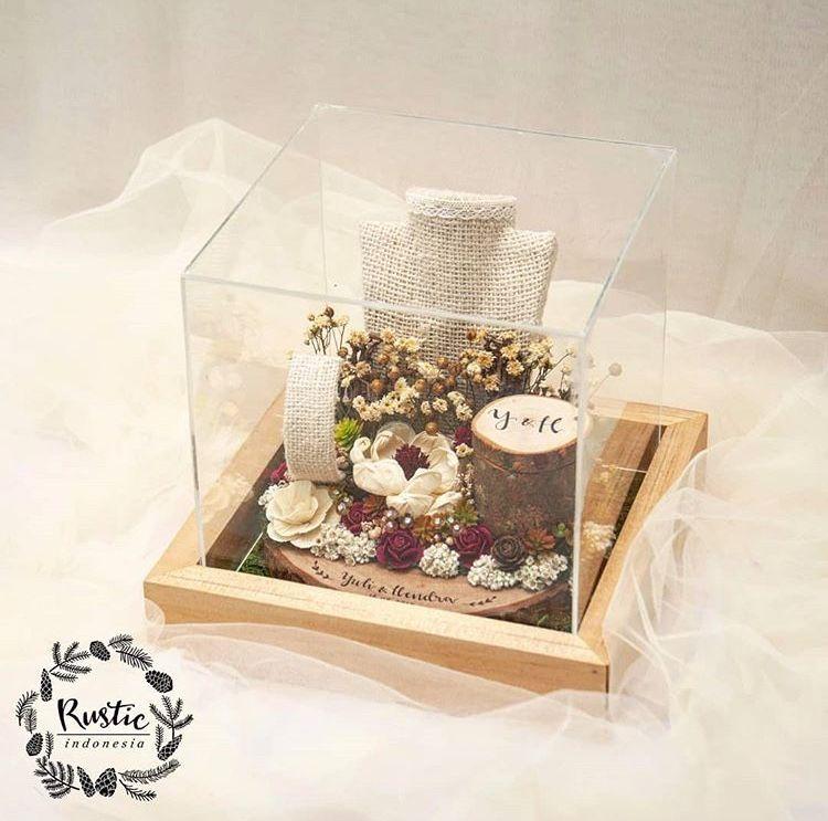 Kotak Cincin Nikah Kayu Rustic Hadiah Pernikahan Ide Perkawinan Ide Dekorasi