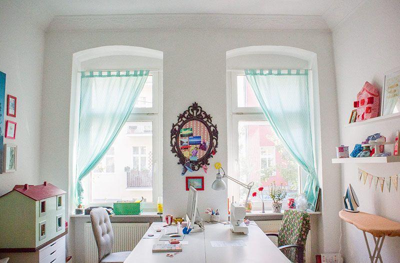 diy anleitung vorhang schlaufenschal selbst n hen. Black Bedroom Furniture Sets. Home Design Ideas