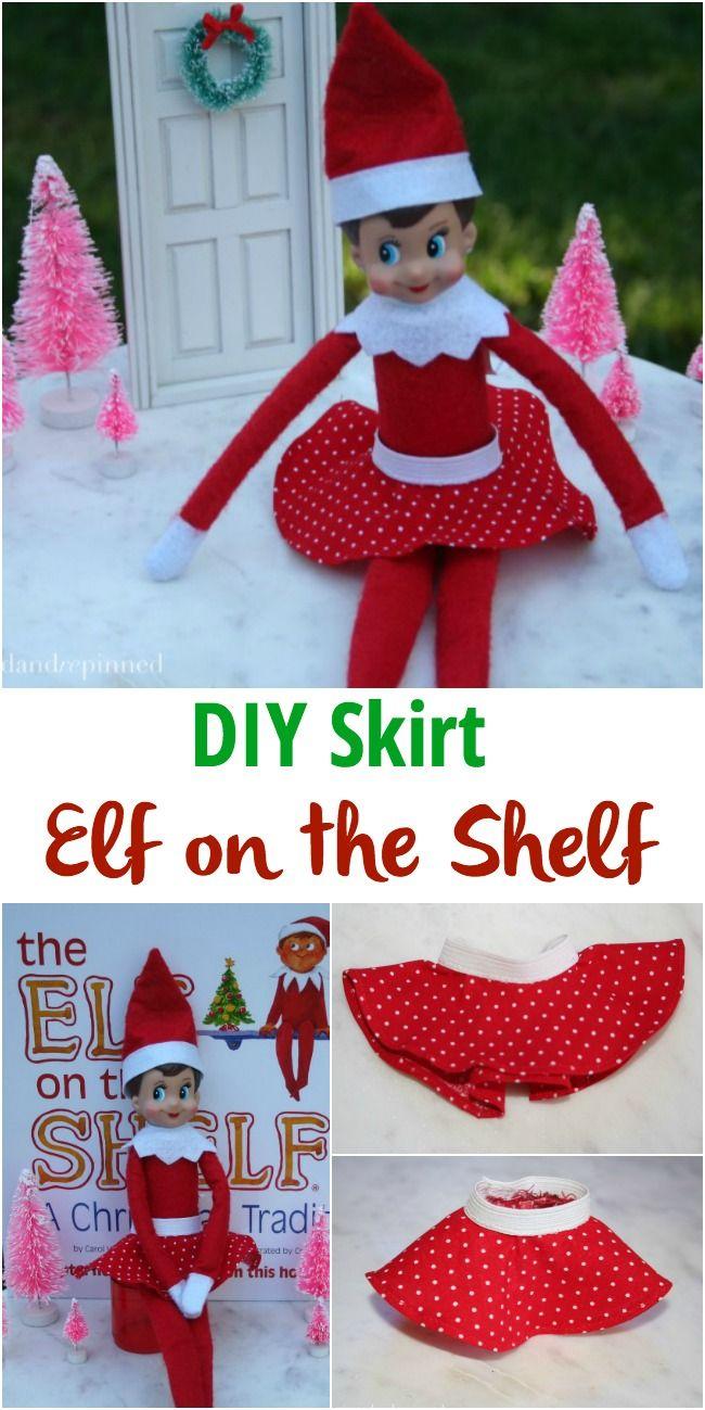 DIY Elf on the Shelf Skirt - Pinned and Repinned