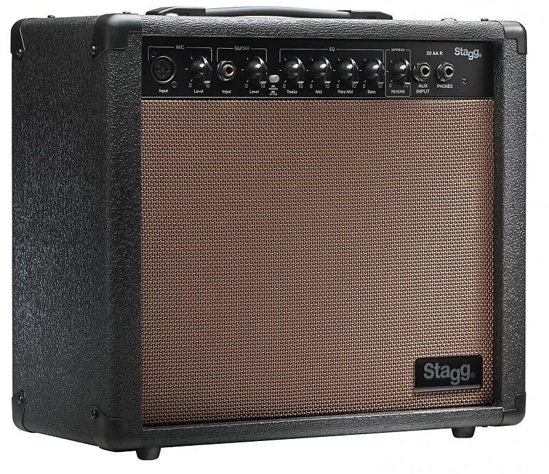 Stagg Acoustic Guitar Combo Amplifier With Reverb 20w Ultratone Guitars Reverb Acoustic Guitar Amplifier Acoustic