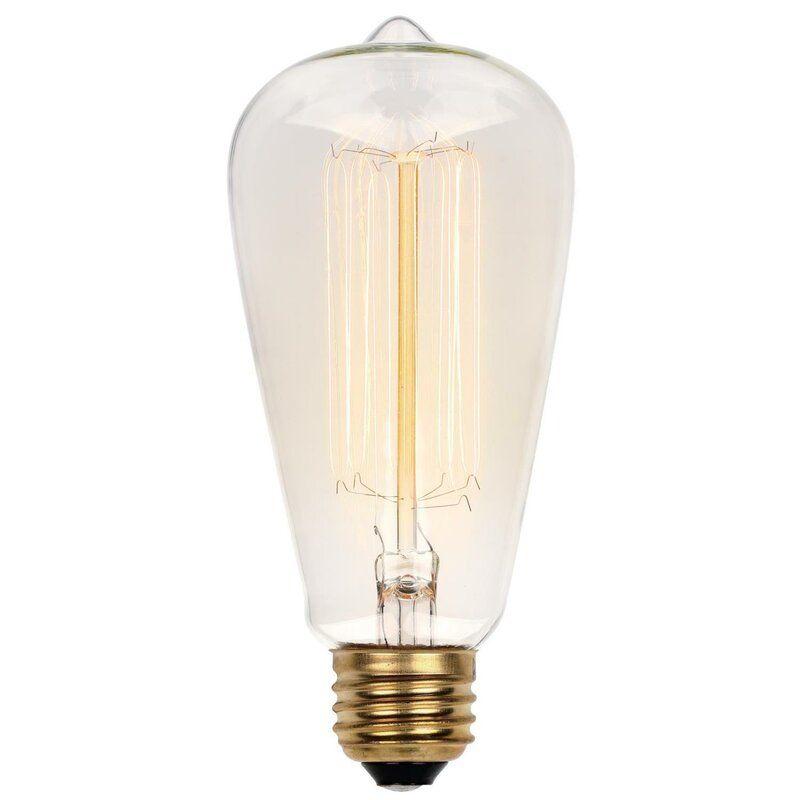 60 Watt St20 Incandescent Dimmable Light Bulb Vintage Yellow 2200k E26 Medium Standard Base In 2020 Light Bulb Edison Light Bulbs Dimmable Light Bulbs