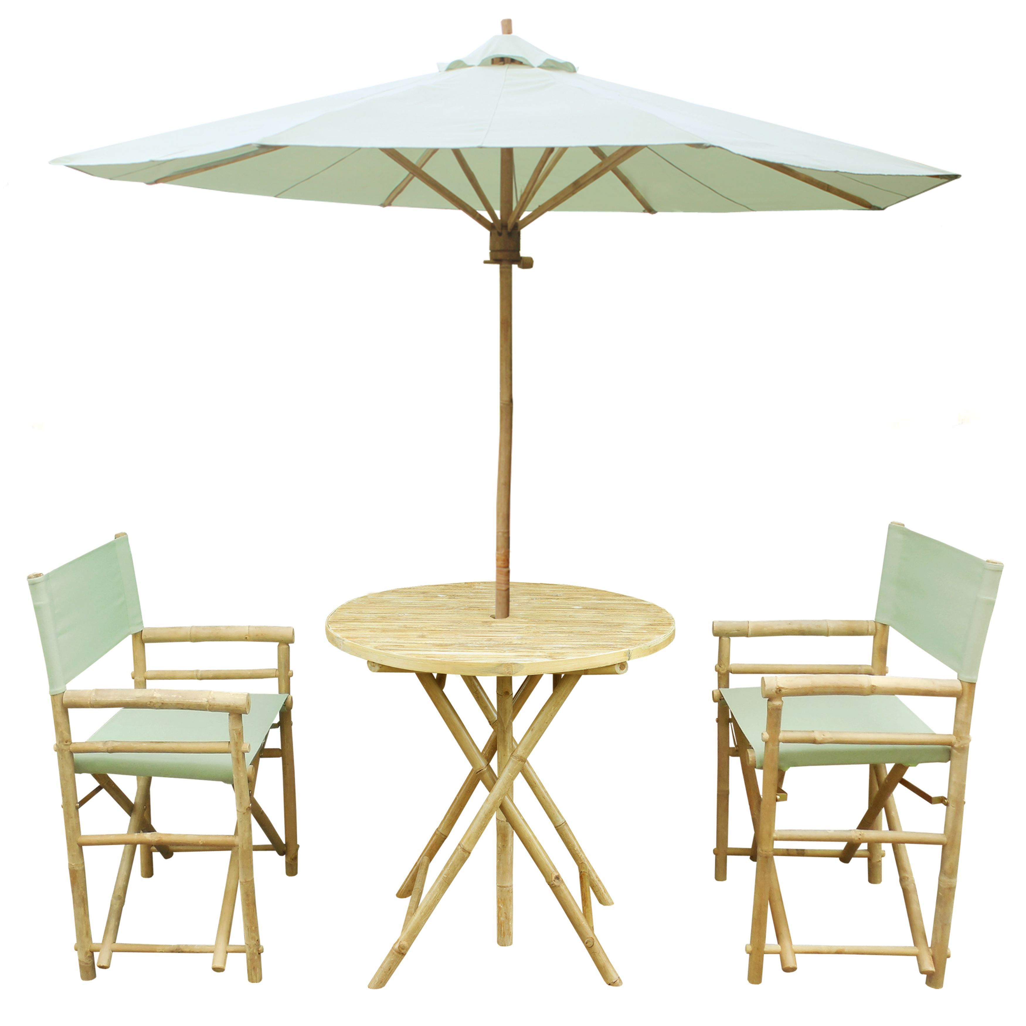Zew blue white red tan black green yellow bamboo handcrafted round patio set pack of 4 w celadon umbrella patio furniture