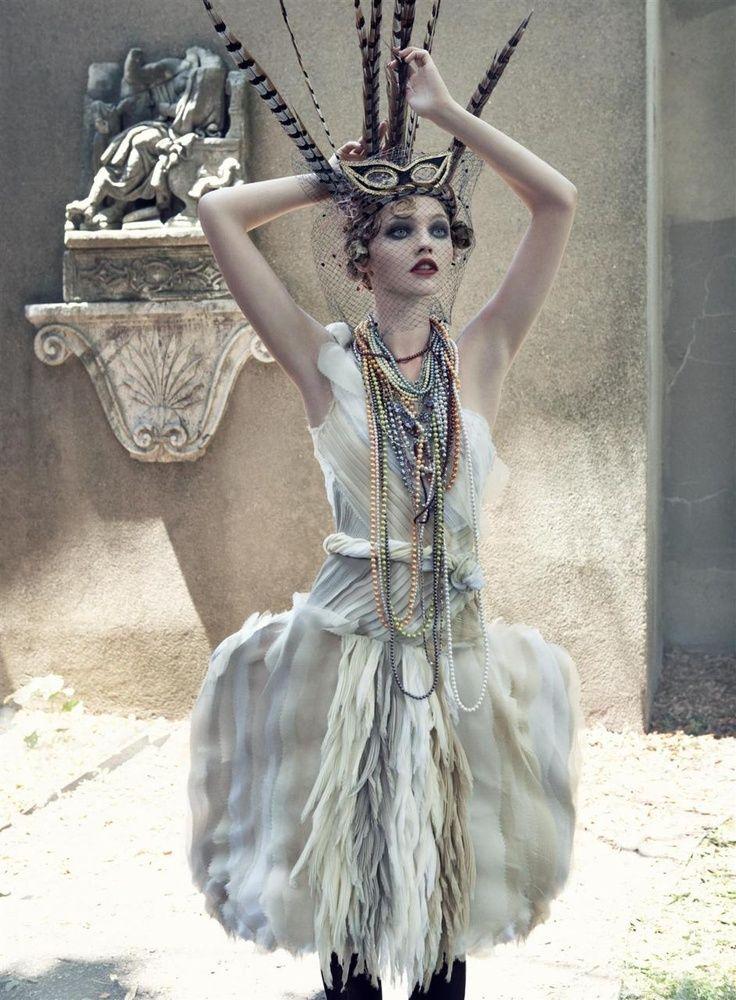 Sasha Pivovarova Photographed by Steven Meisel for Vogue US, September, 2007