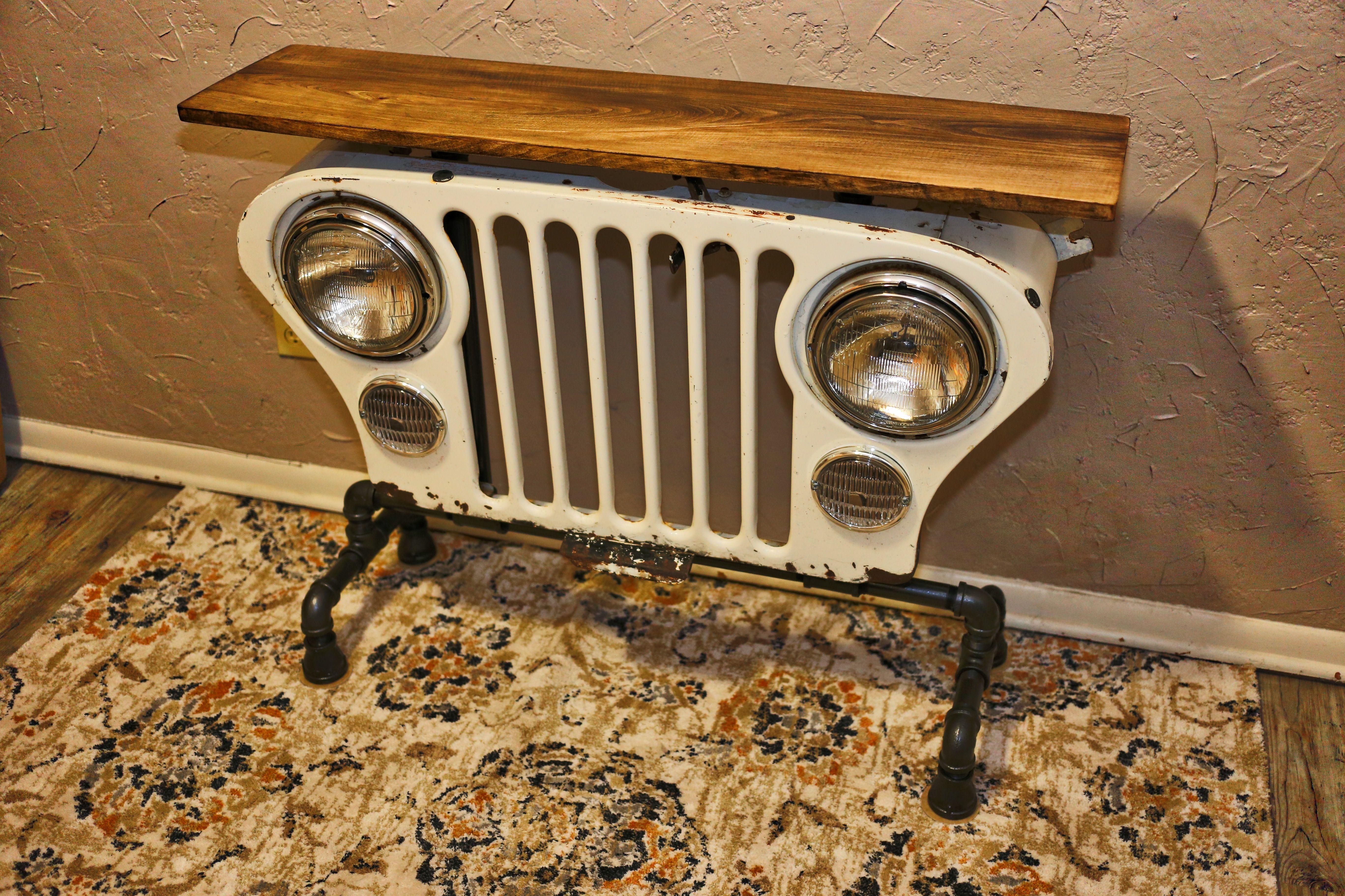 Jeep Grill Table Jeep Grill Car Parts Decor Car Furniture