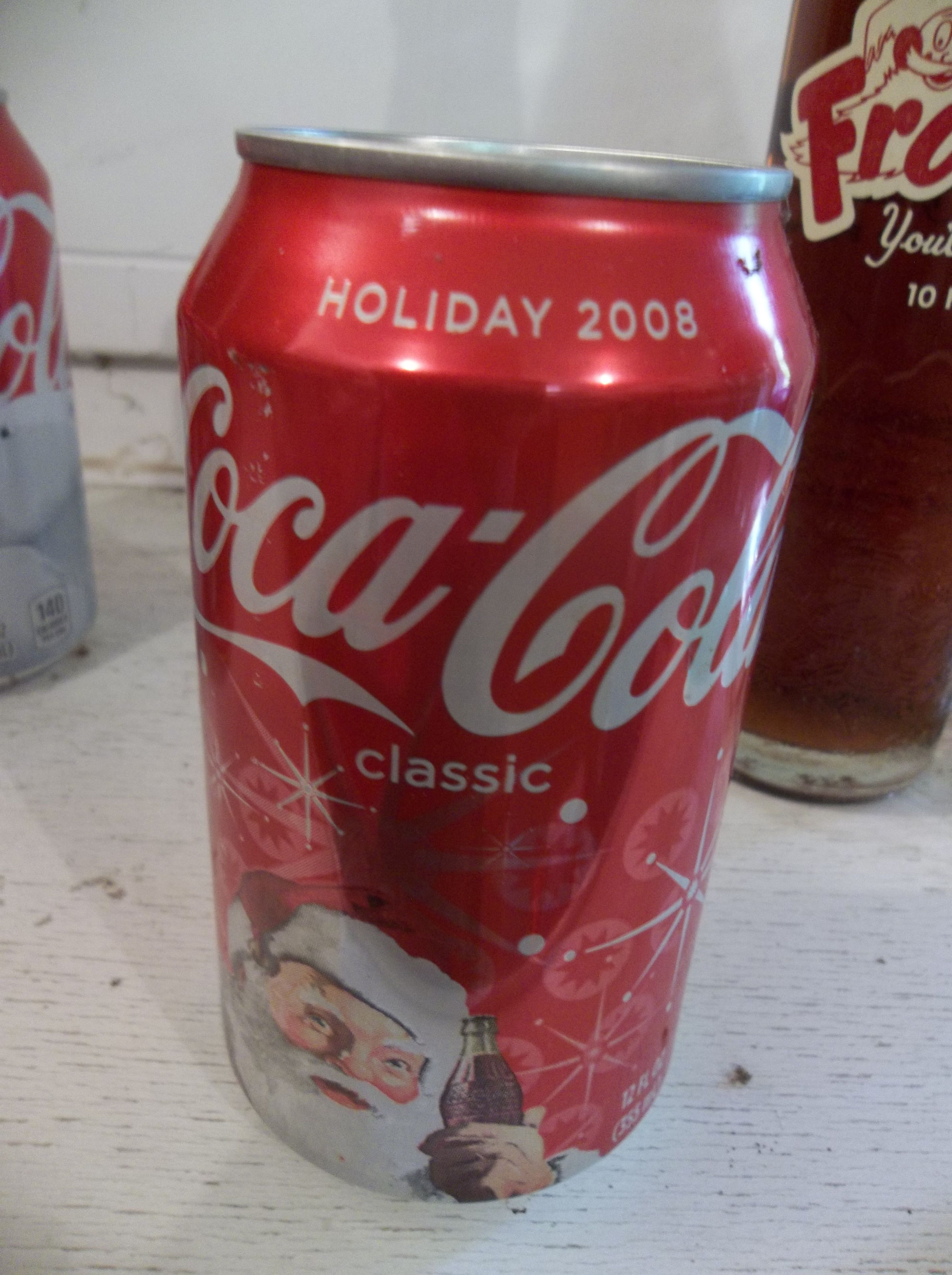 Holiday 2008 empty Santa can | My Coke collection | Canning