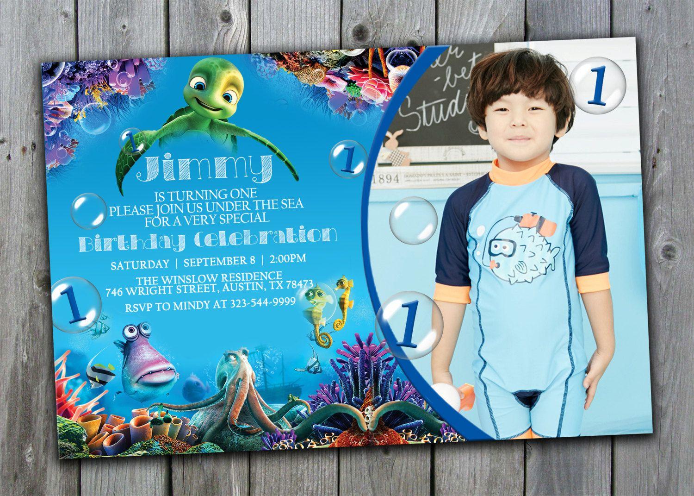 A Turtles Tale Birthday Invitation, Under the Sea Birthday ...