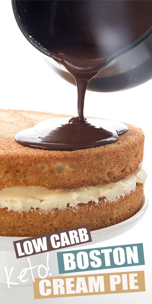 Photo of Boston Cream Pie – Low Carb Recipe