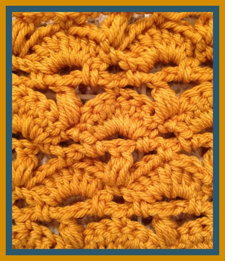 Free pattern - Goldenrod Stitch for Blanket or Scarf | Crochet ...