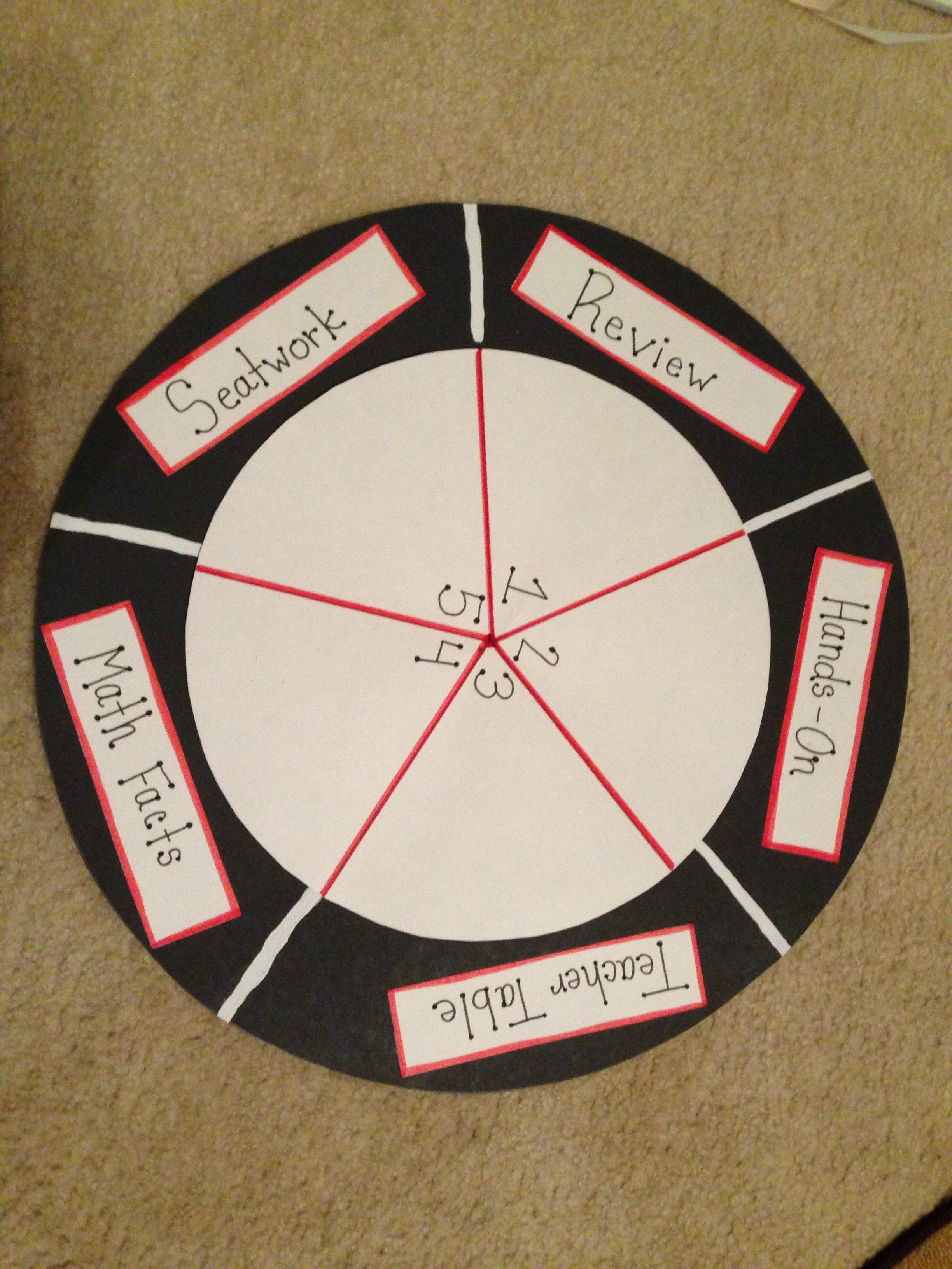 Math Workshop Wheel Laminate And Write The Kids Names In