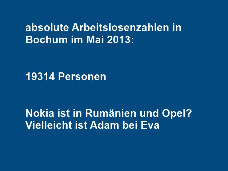 Arbeitslosenzahlen in Bochum