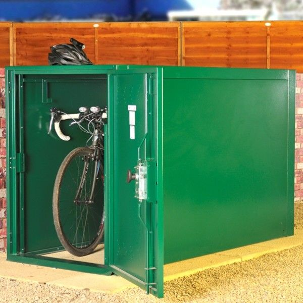 Asgard Metal Security Shed Double Ended Bike Locker